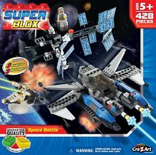 Cra Z Art Superblox Deluxe Space Battle Construction Kit 428 Pc, Brand New!