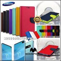 Etui coque Cuir PU Leather Mercury Case Samsung Galaxy S10, S10e, S10+ plus