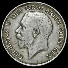 1911 George V Silver Half Crown, GF