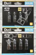 8x Diall 12V GY6.35 470lm 240v 25W = 44W Warm White Halogen Light Bulb Capsule