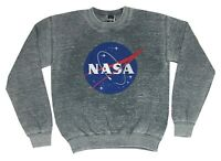Men's NASA Distressed Logo Pullover Sweatshirt Soft Faded Wash