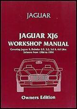 Workshop Manual Jaguar DAIMLER Xj6 Xj40 Saloon 1986-94 Shop Service Repair