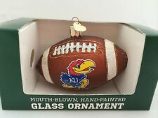 Christmas Ornament FOOTBALL KANSAS Mouth Blown Hand Painted Old World Style
