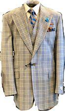 NEW Tiglio Rosso Blue W/ Orange Plaid 3pc Italian Suit 48 Long Msrp $499