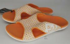 ThriftCHI ~ Spenco Comfort Sandals - Kholo Floral Gingham Tangerine Size 8