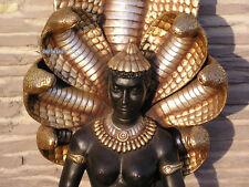FRAU COBRA FIGUR STATUE SKULPTUR ÄGYPTEN EROTIK DEKORATION DEKO GOLD OPTIK NEU