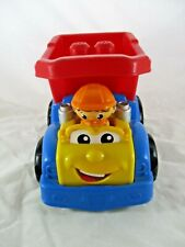 Mega Bloks Tip Truck with Man Driver. Pre-Owned. First Builders.