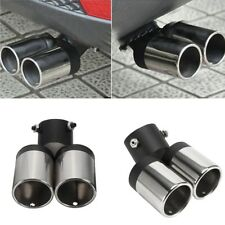 Stainless Steel Bend Dual Exhaust Pipes Muffler Car Muffler Tail Tip - Dia.60MM