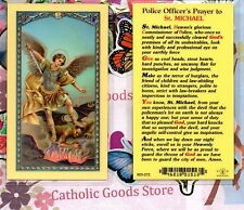 Saint St. Michael with Police Officer's Prayer - Laminated Holy Card
