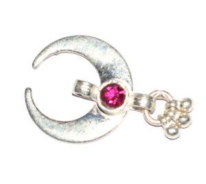 925 Sterling Silver 11.80 Carat Fine Jewelry 1 Inch Moon Shape Pendants BHG18