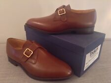 Trickers Monk Shoe, Mid Brown Calf Leather, Size 11, Width Fitting 5 (Standard)