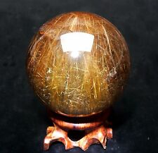 416g 66mm Natural Clear Beautiful Rutilated QUARTZ Crystal Sphere Ball Healing