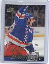 10-11 2010-11 UPPER DECK RYAN CALLAHAN UD EXCLUSIVES /100 72 NEW YORK RANGERS