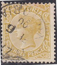 Stamp (V118) 1884 VIC 3d Yellow Green Stamp Duty ow362