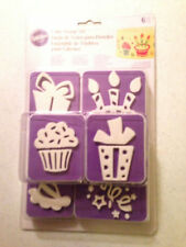 6 pc Wilton Birthday Party Cake Stamp Set Decorating Supplies CLEARANCE FINAL