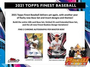 NEW YORK METS 2021 Topps Finest Baseball 8-Box Case Break #3