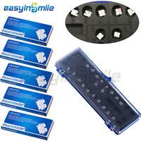 EASYINSMILE 5 Packs Orthodontic Dental Brackets Roth/MBT Ceramic MINI Braces 5-5