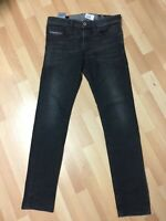 WORN Mens Diesel THOMMER Stretch Denim 0687J DARK GREY Slim W30 L32 H6 RRP£150