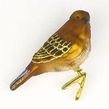 OWC Old World Christmas Tree Ornament Mercury Glass Bird House Sparrow Birding