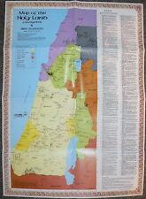 Israel Holy Land Bible Map Pilgrims Jewish/Christian Study Jesus Christ Journeys