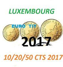 LUXEMBOURG   2017   PIECES  DE  10  20   50   CENTIMES   /    2017    disponible