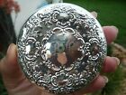 VINTAGE TOWLE 925 STERLING SILVER REPOUSSE HAND PURSE COMPACT MIRROR