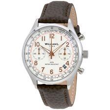 William L 1985 Vintage Chronograph White Dial Mens Watch WLAC01BCORBM