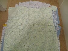 Lot 3, Handmade Crochet Baby Blanket Afghan Shades of Blue 32x38✞