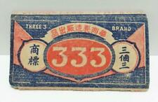 Vintage Singapore Smoking Cigarette Tobacco 333 Rolling Paper Ephemera (AC236)