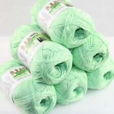 Sale New 6 Skeinsx50gr Soft Bamboo Cotton Baby Hand Knit  Shawls Crochet Yarn 15