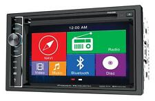 "Power Acoustik PDN-626B DVD/CD Player 6.2"" Touchscreen GPS Bluetooth Front USB"