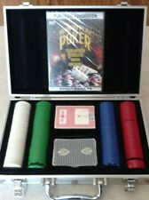 Texas Hold'em Poker Set with Aluminum Case 200 Chips Cards & New DVD How To Play