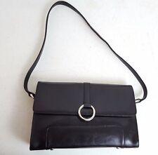 Oroton Black Leather Handbag Shoulder Bag Purse Style EV206