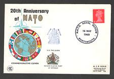 Cover GB 20th ANNIVERSARY OF NATO 1969 16/05/69 Portsmouth NATO Naval Review SHS