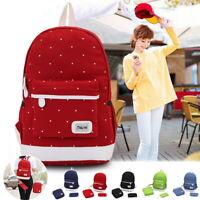 3Pcs Unisex Women Men Canvas School Backpack Rucksack Shoulder Bag Travel Bag SH