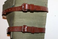 2 Wool Blanket straps Leather, Back pack, sleeping bag/Pad, bed roll Army G34