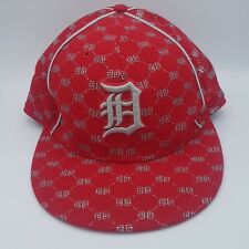 Unused New Era MLB 59Fifty Youth Kids 7 3/8 Detroit Tigers Red Silver Ball Cap