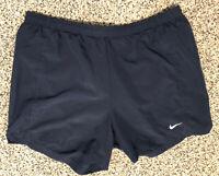 Mens Nike Running Shorts M Medium Nikefit Navy Solid Liner Drawstrings READ