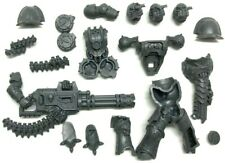 40k Chaos Space Marines Havocs with Reaper Chaincannon full model x3 heads 2F