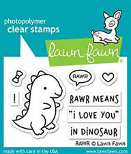 """Stempel """"RAWR"""" Lawn Fawn LF1555, Dinosaurier, Clear Stamps"""