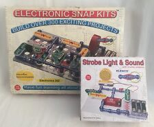 2 Electronic Snap Circuits Kits Electronics 202 & Strobe Light & Sound Lot C