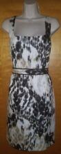 NEW Tahari sleeveless Gisella dress black white beige dress size 10 NWT