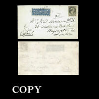 1877 Cover, with the 8¢ denomination of Canadian registered letter Only 16 .Copy