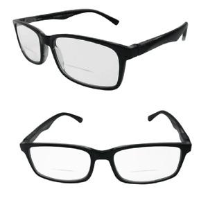 Bifocal Reading Glasses UV Protected Lenses Black & Tortoiseshell Spring Hinges