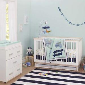 Just Born One World Collection 3-Piece Bedding Set - Hello World