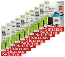 SanDisk Ultra microSD 32GB  Class10 microSDHC UHS-I U1 Flash Memory Card Lot 10