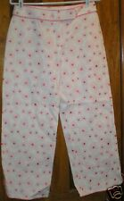 Susan Bristol Women's Pants NWT Size 6 Pink Flowers Cropped