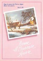 B53065 paysage d'hiver winter landscape  bonne annee new year   france