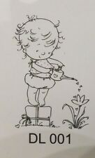 Little Dawn - Watering - Nellie Snellen Acrylic Cling Stamp DL001