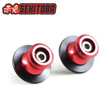 Sekitoba CNC Swingarm Spools Sliders Paddock Stand Bobbins 10mm Red